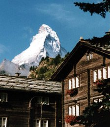 The Matterhorn, near Zermatt in Switzerland - easy to reach from London by train..!
