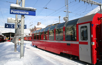 Bernina Express at Pontresina
