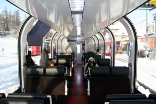 2nd class seats on the Bernina Express