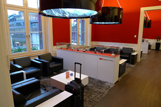 SBB first class lounge at Zurich Hauptbahnhof