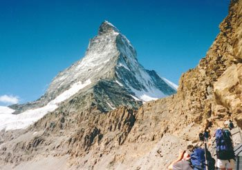 The Matterhorn, Zermatt.  Take the train to Switzerland!