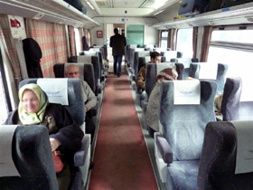 1st class seats on the Aleppo-Damascus train