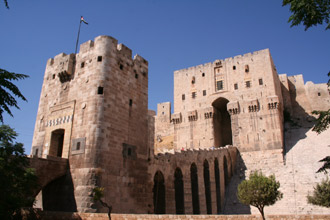 The citadel of Aleppo, Syria