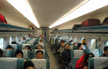 Taiwan's high-speed train from Taipei to Kaohsiung:  Economy class