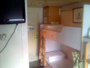 Cabin on China to Taiwan ferry