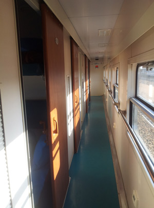 1st class sleeper corridor on Tazara train