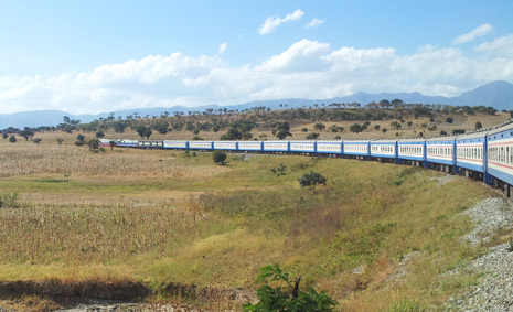 The Tazara train from Dar es Salaam to Mbeya & Kapiri Mposhi