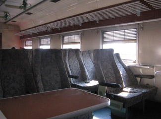 2nd class seats on the Tazara train