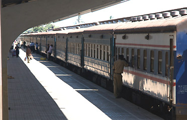 The Mukuba in the platform at Dar es Salaam station