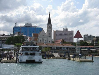 Dar es Salaam waterfront, with a fast ferry to Zanzibar
