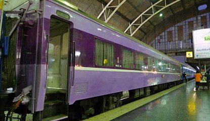 Ex-Japanese first class sleeping-car on train 13 from Bangkok to Chiang Mai