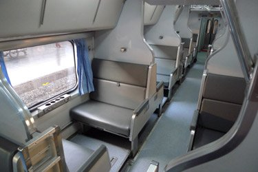 Thai 2nd class sleeper, most modern type