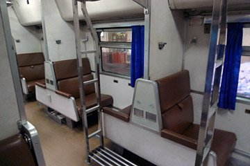 Older 2nd class sleeper, as used on the train from Bangkok to Nong Khai