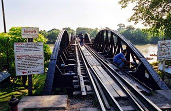 You can walk across the Bridge on the River Kwai - but look out for trains..!