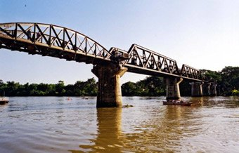 The Bridge on the River Kwai, from the Kan'buri (Bangkok) end
