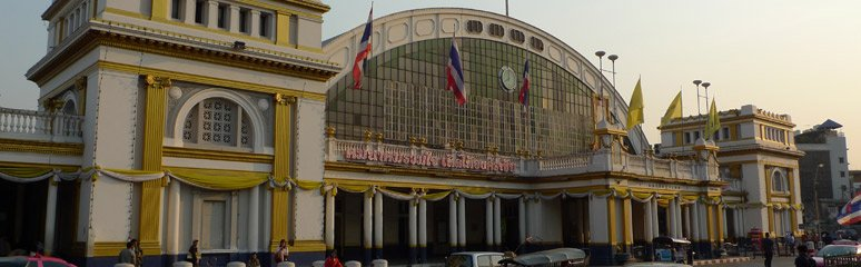 Bangkok's Hualamphong railway station, in the morning sun