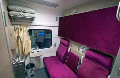 1st class sleeper on new Thai train