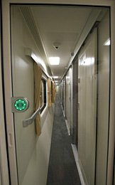 Corridor in new Thai 1st class sleeper