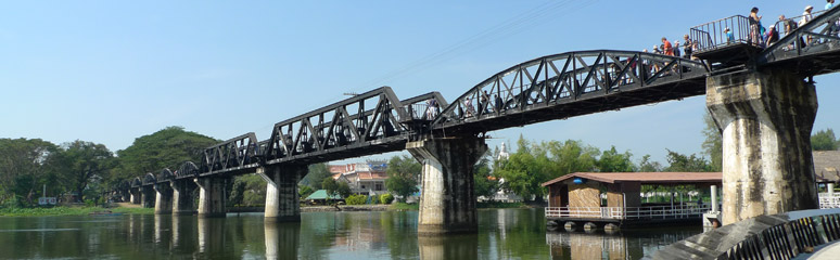 The infamous Bridge on the River Kwai