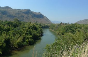 Scenery along the River Kwai between Kanchanaburi and Nam Tok