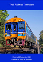 Train timetable for State Railways of Thailand