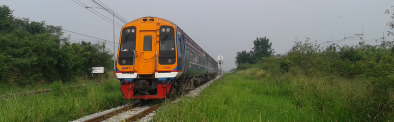 Weekend express railcar from Bangkok to Pattaya