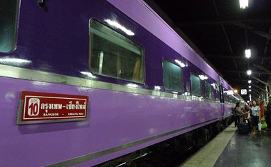 Ex-Japanese sleeper cars on train 13 from Bangkok to Chiang Mai