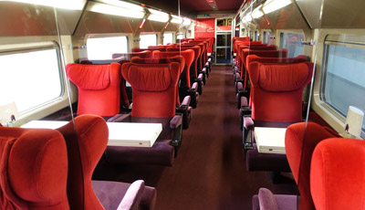 1st class (Comfort & Premium) seating on Thalys