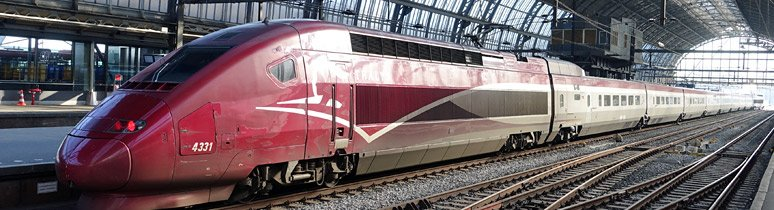 A Thalys train from Amsterdam to Paris