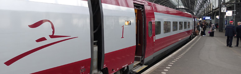 Boarding a Thalys to Paris at Amsterdam Centraal