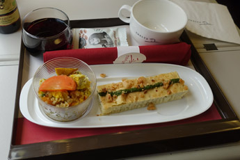 Premium class food on a Thalys train between Amsterdam & Brussels