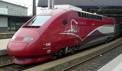 A Thalys train at Brussels Midi