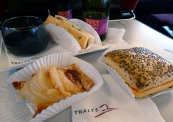 First class snack & wine on Thalys