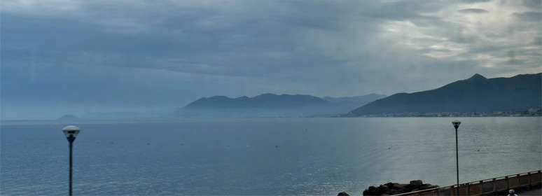 Coastal scenery from the Thello train from Nice to Italy