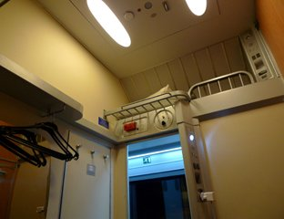 Thello sleeper compartment, corridor side