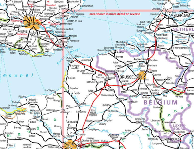 Extract from Rail Map of Europe