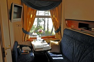 Golden Eagle luxury train - silver compartment