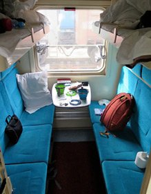 4-berth sleeper on train 2, the Rossiya