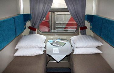 1st class 2-berth on train 2, the Moscow-Vladivostok 'Rossiya'