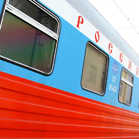 Exterior of Moscow-Vladivostok Train 2, the Rossiya