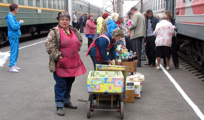 Station traders in Siberia