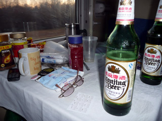 Beer on the train!