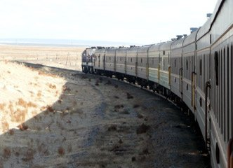 Train 4 from Moscow to Beijing in Mongolia