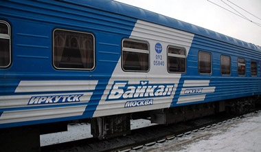 Train 10, the Baikal, from St Petersburg to Irkutsk