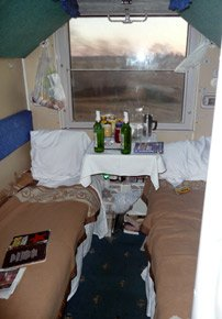 4-berth sleeper on train 4 from Moscow to Beijing