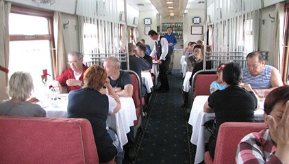 Chinese restaurant car attached to train 4 in China