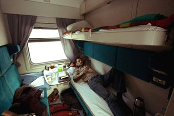 4-berth sleeper on train 19 from Beijing to Moscow