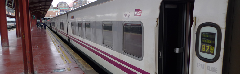 Trainhotel arrived at Madrid Chamrtin