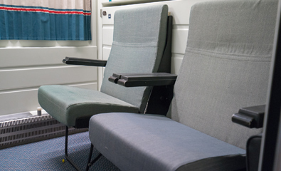 Compartment set up with seats