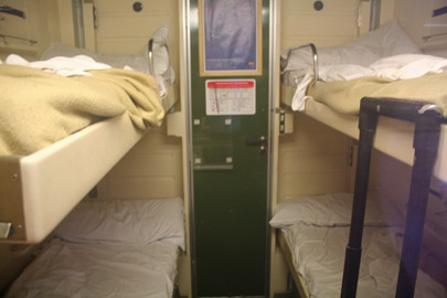 4-berth sleeper in night mode